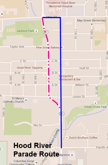 Hood River Parade Route